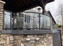 curved glass railings