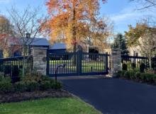 wood driveway gates